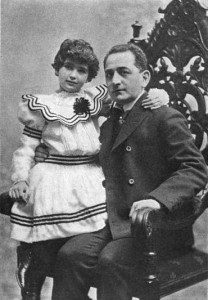 Adolph Ochs and his daughter, Iphigene (Ruth Holmberg's mother), circa 1902