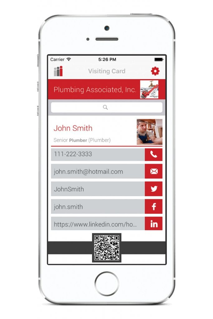 i-Card app interface chattanooga