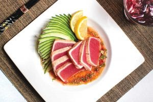 tuna tataki from totto sushi and grill