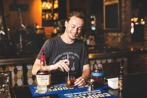 Brandon Muir making an Old fashioned at Urban Stack