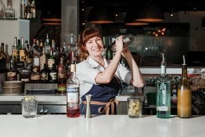 Carrie Blackman making an enzoni at old gilman grill