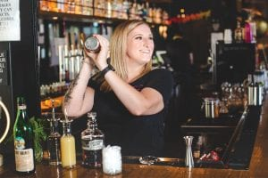 taylor underwood making The Pharmacy cocktail at Moxy