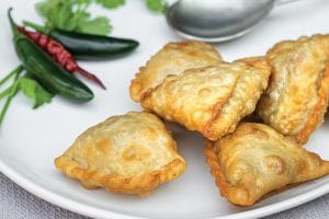 authentic indian vegetable samosas