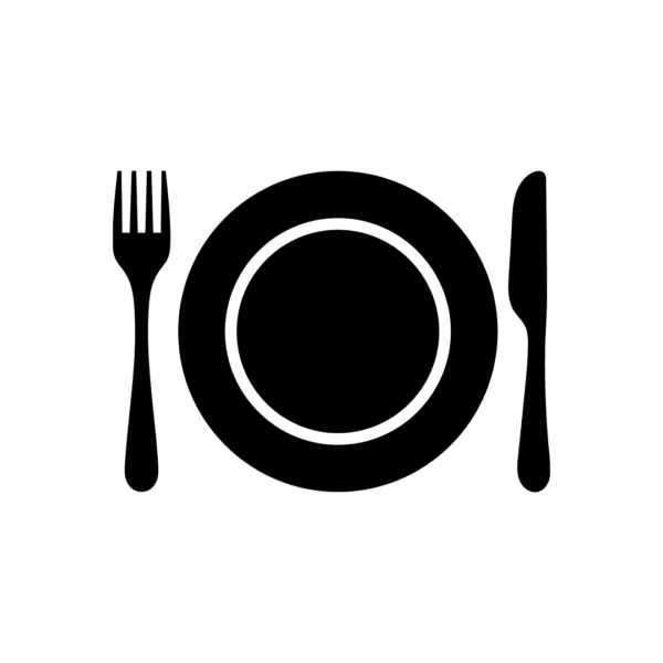 plate and utensils icon