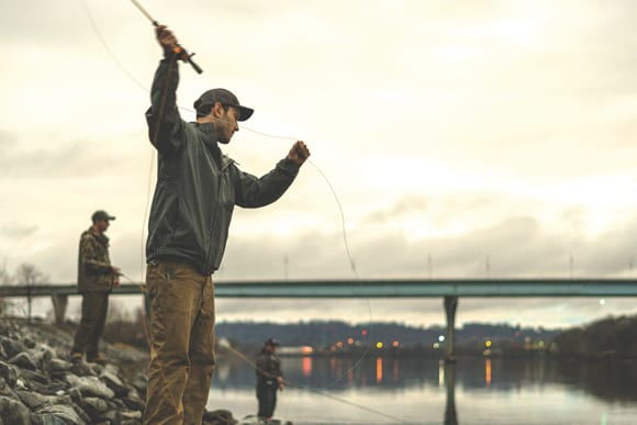 Men fishing in the Tennessee River