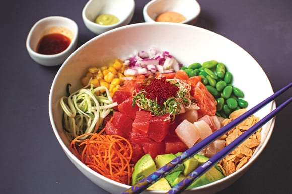 Poke Bowl from Totto, Photo by Rich Smith