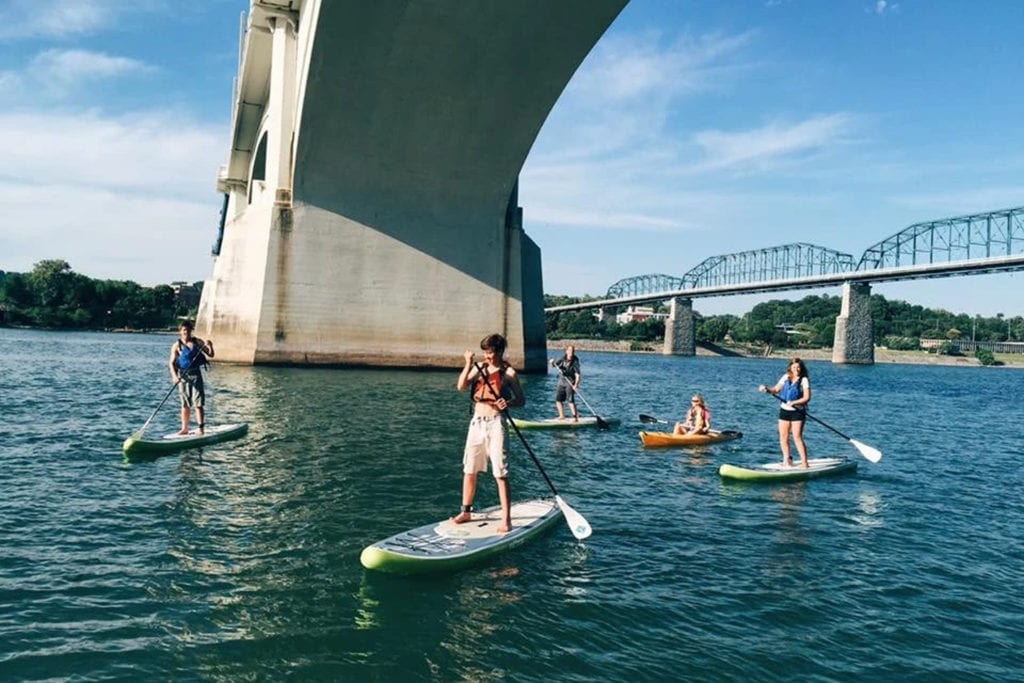 Paddle boarding on the Tennessee River