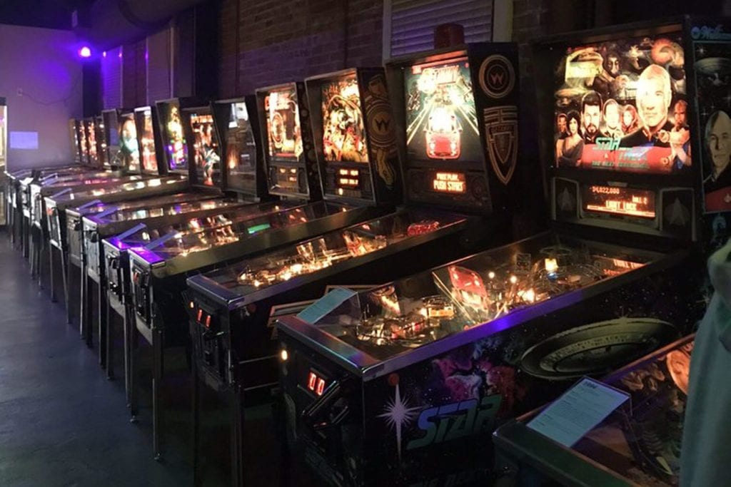 Arcade games and pinball machines at the Classic Arcade and Pinball Museum