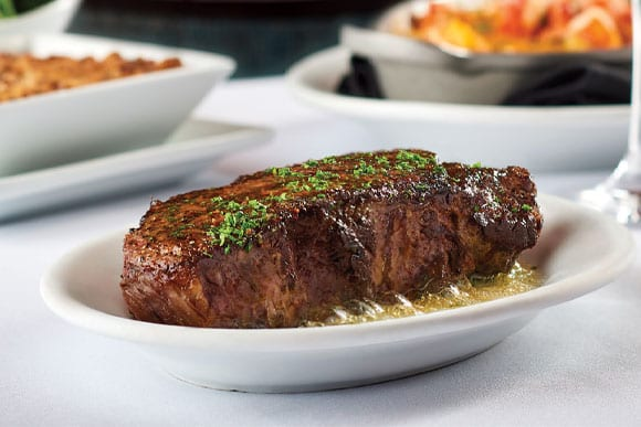 steak from Ruth's Chris Steakhouse