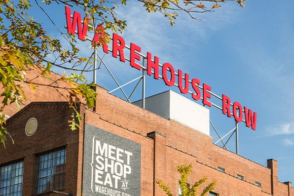 Warehouse Row, Photo by Sarah Unger Courtesy of Maycreate