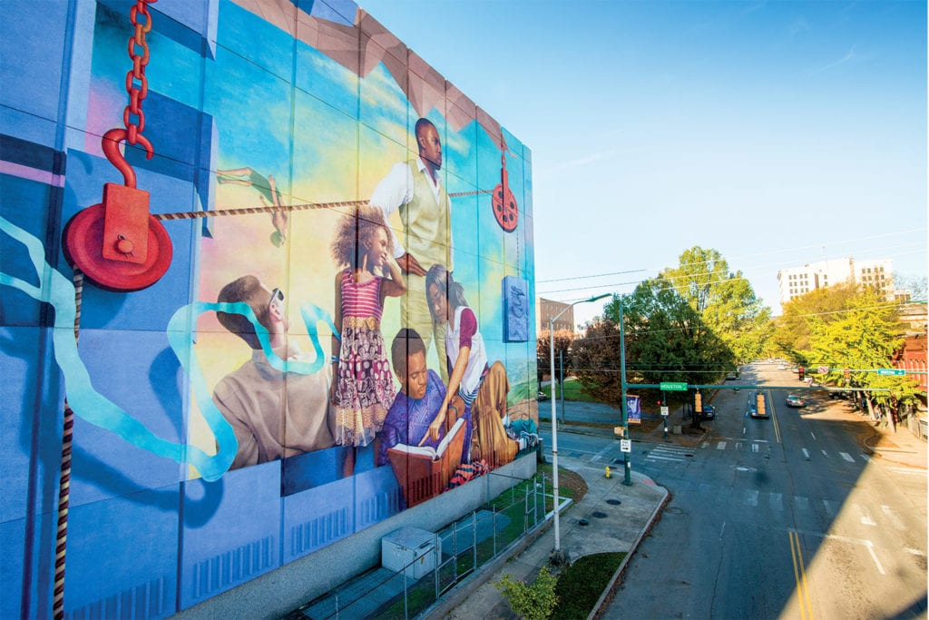We Will Not Be Satisfied Until Mural by Meg Saligman; Photo Courtesy of Public Art Chattanooga; © Stanley Smith