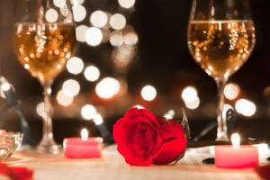 Romantic Date Night Table set up