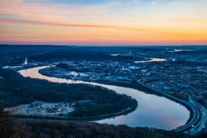 sunrise over Chattanooga