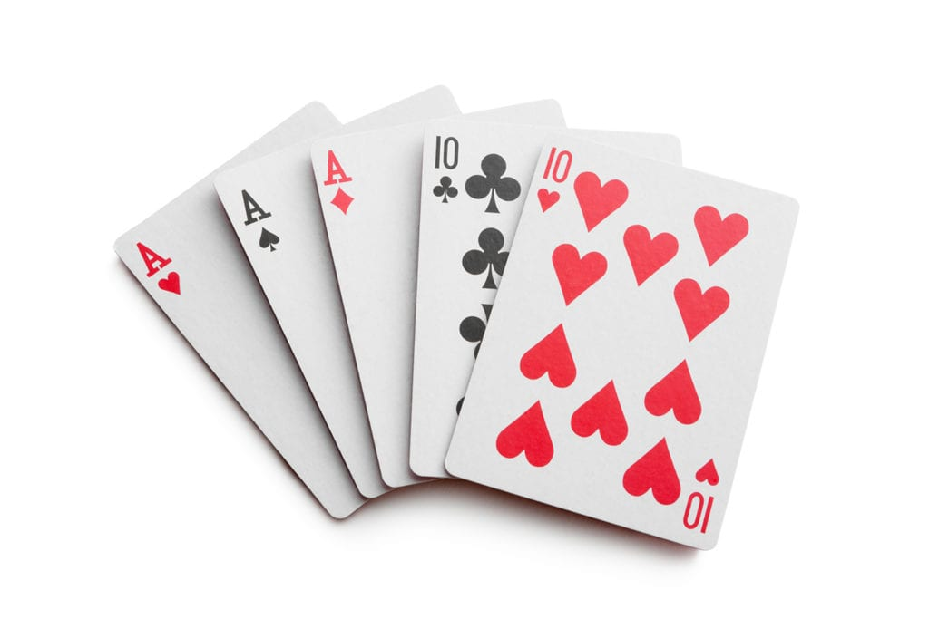 hand of playing cards