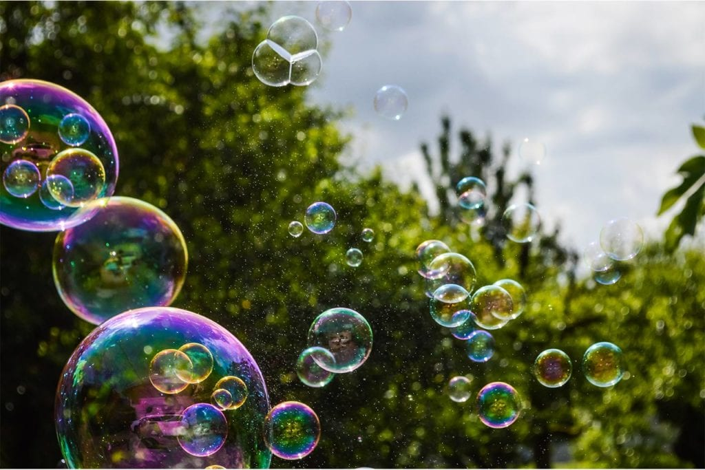 bubbles floating through the air