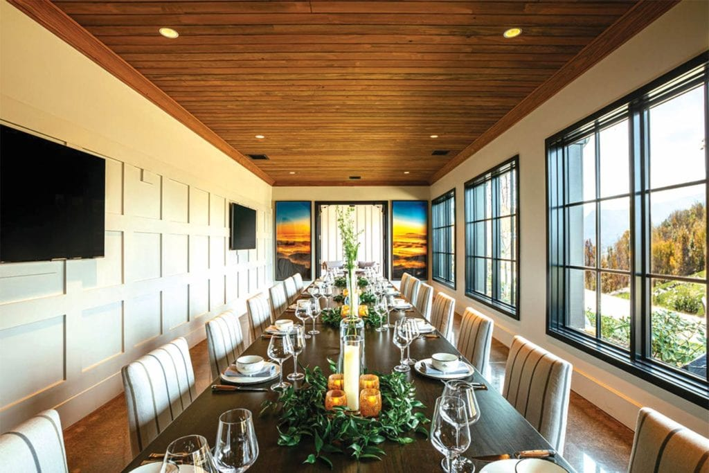 Private dining room at the Creag at McLemore