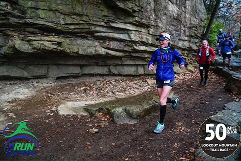 runners in the Lookout Mountain 50 Miler race