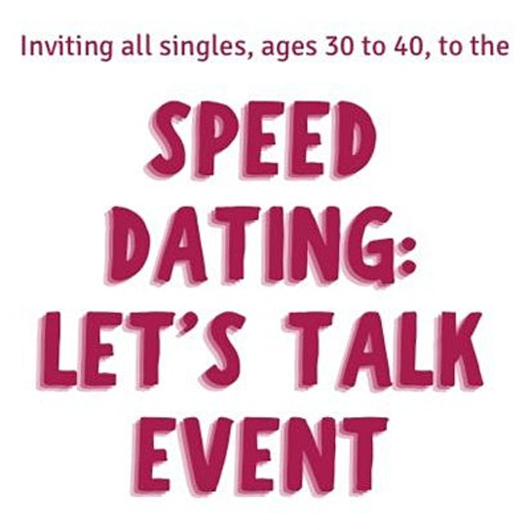 Speed Dating: Let's Talk Event graphic